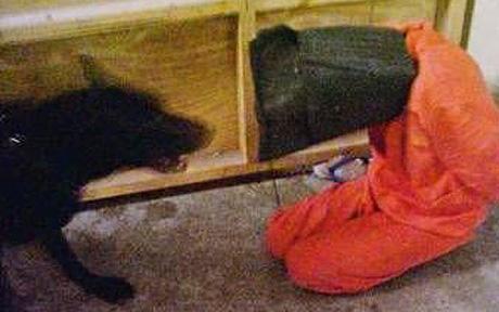A previous image of Iraq prison abuse