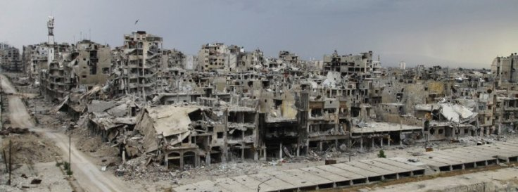 "REUTERS Homs in May: ""People are telling me that Homs looks like Berlin in 1945."""