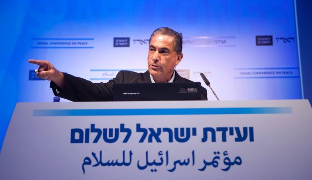 Gideon Levy speaks at Haaretz's Israel Conference on Peace, July 8, 2014. Photo by Tomer Appelbaum